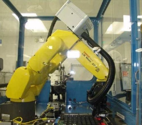 Fanuc Robot LR Mate 200iC R-30iA Chip IC Testing Packaging System